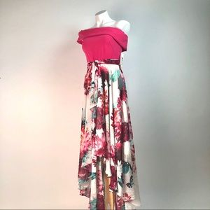 Eliza J Crepe Chiffon NWT high-low Floral dress 2